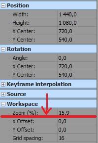 kadrowanie i skalowanie w sony vegas workspace
