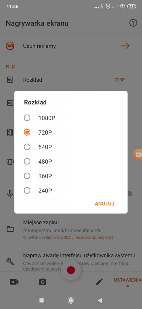 aplikacja do nagrywania ekranu