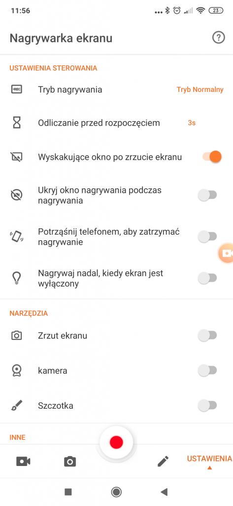 nagrywanie ekranu smartfona