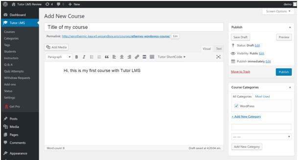 tutor LMS